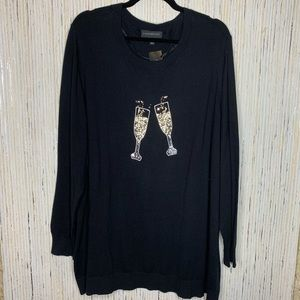 Lane Bryant Champagne Graphic Sweater